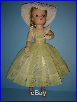 Vintage Madame Alexander Cissy Doll HTF Tagged Flocked Nylon Dress 1958