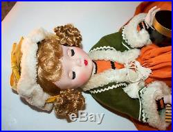 Vintage Madame Alexander Cissy faced Mary Louise withEXTREMELY RARE YELLOW GLOVES