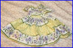 Vintage Madame Alexander Cissy yellow And Purple Floral Dress daydress with tag
