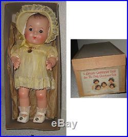 Vintage Madame Alexander Dionne Quintuplets Doll Yvonne Hangtag Box