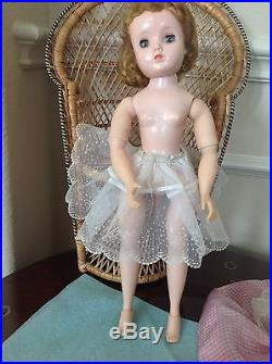 Vintage Madame Alexander Doll Elise in Taffeta Gingham Dress