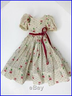 Vintage Madame Alexander Dress DIMITY CLOVER Tagged for CISSY Fashion Doll 1956