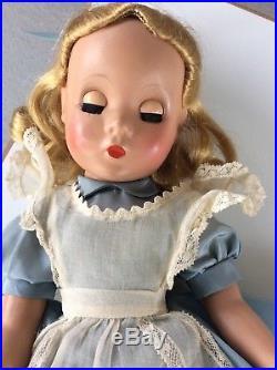 Vintage Madame Alexander Maggie Alice In Wonderland Doll HP 15 Rare and HTF