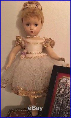 Vintage Madame Alexander Nina Ballerina Doll, hard plastic, 14 1950s