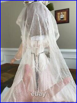 Vintage Madame Alexander Pink bride 21 Wendy or Margaret hard plastic, HTF