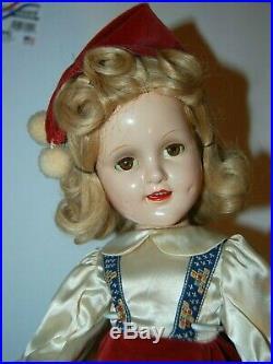 Vintage Madame Alexander SONJA HENIE Doll 18 Compo ORIGINAL CLOTHES Skater 1939