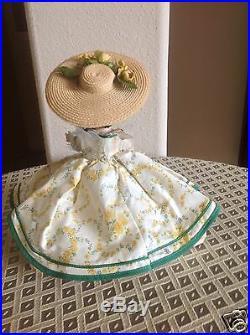Vintage Madame Alexander Scarlett O'hara1955 RARE HTF in YELLOW HP SLW #485