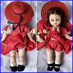 Vintage Madame Alexander-kins 1953 Slnw Play Dress Tagged Triple Stitched Hair