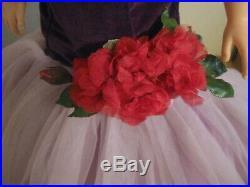 Vintage Mme. Alexander Brunette Cissy In Purple Torso Gown