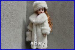 Vintage Pearl Mink Fur Coat Hat & Muff 4 Madame Alexander Cissy dollsdimitha