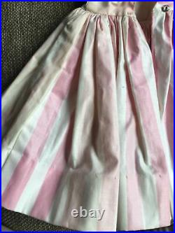 Vintage Pink White Striped Cissy Dress Madame Alexander-Tagged AS IS