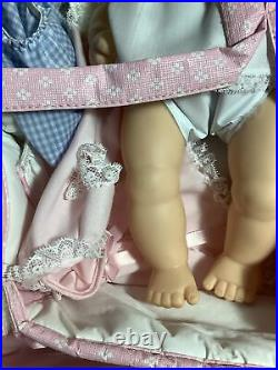Vintage Rare Madam Alexander Doll Sweet Baby With Layette In Basket HTF New