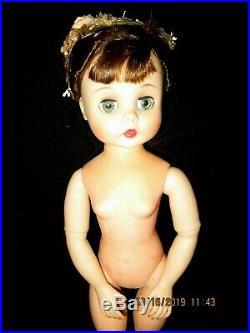 Vintge MME Madame Alexander 15 Doll Articulate Jointed Brunette Ballerina Elise