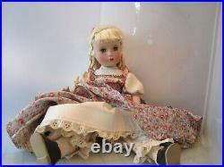 Vtg 1950s Madame Alexander LITTLE WOMEN AMY doll loop curls orig. Tag dress 14