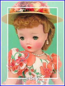 Wonderful Vintage Madame Alexander Cissy In Vibrant Orange WOW